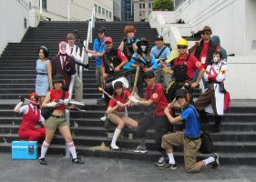 Anime Revolution 2012 - TF2 Group Shot by TechieWidget