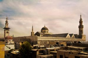 Omayyad Mosque - Up View by ashamandour