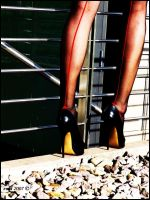 High Heels and red Line by Collinder