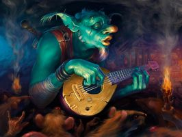 Goblin - bard by Igor-Grechanyi