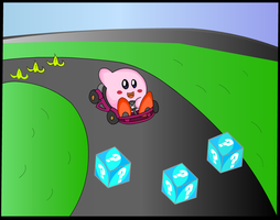 Kirby Mario Kart by chacs