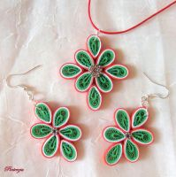 Quilled jewelry by pinterzsu