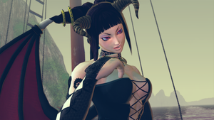 Juri Succubus WIP 1 by BrutalAce