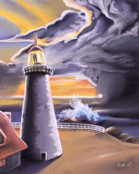 Lighthouse - Approaching Storm by DivinePastels
