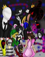 Creepypasta in Wonderland by xX-Icyhazard-xX