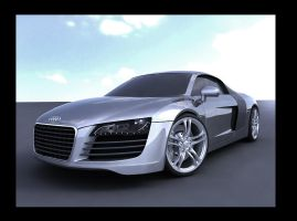 audi r8 hdr render by spittty