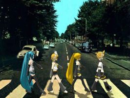 Vocaloid Abbey Road by StaryuManiac