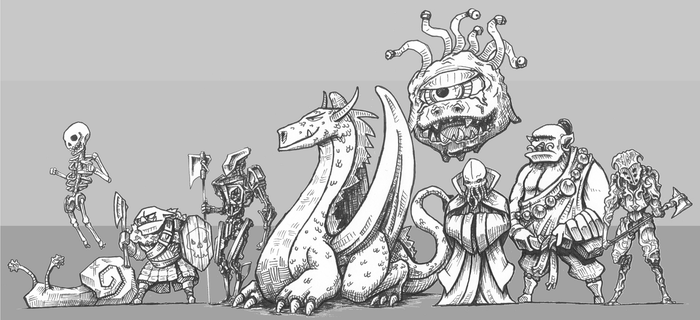Monstrous Monsters from a Manual by Otuz