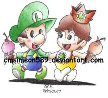 Baby Daisy and Baby Luigi by cmsimeon589