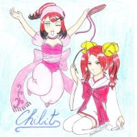 Kotoko and Sumomo-in our style by HunBlackPrincess