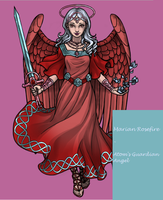 Marian Rosefire - Atom's Guardian Angel by SassyDragon18