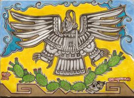 Aztec eagle by josilla