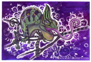 purple chameleon by Neooxx
