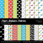 Paper Airplanes Patterns by MysticEmma