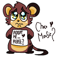 Chocolate Mouse Adoptable by FunkyDreamer
