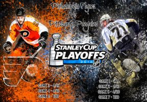 Philadelphia Flyers - Pittsburgh Penguins by Sammzor