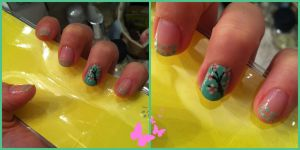 Cherry blossom nail art :3 by MissFocaccina