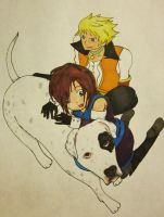 Guy and Alex with Yunastrife's Dog by IHaveNoIdea8