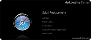 Black Safari replacement icon by darkdest1ny