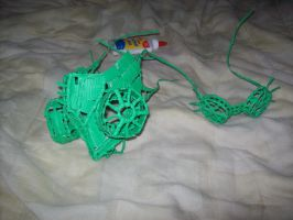 twist tie cyber goth gas mask and goggles by RAC1000