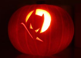 Batman Pumpkin by mikedaws