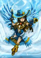 Brave Frontier - Twin Arms Rickel by yohat