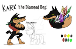 Karl The Diamond Dog by Mickeymonster