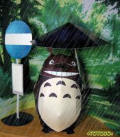 Totoro Bus Stop by kickass-peanut