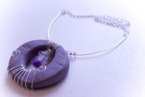- Purple Themed Necklace - by IskaDesign