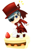 Ciel on Cake by kur0--18--tenShi