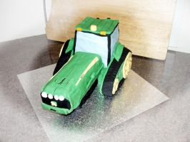 tractor cake by InvisibleSnow