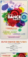 FREE DOWNLOAD PSD Disco Dance Abstract Poster by pacovitiello