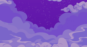 Cloudy Night Sky Background by ParadoxCloxs