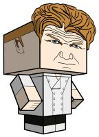Cubeecraft of Chef Ramsay from Hell's Kitchen by SKGaleana