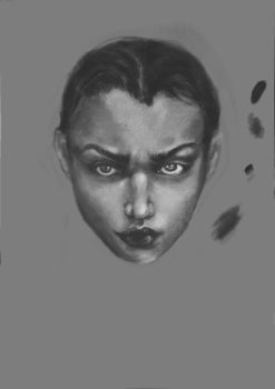 Gray-scale portrait I by Katherie-Knight