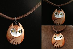Owl Buddy Necklace by Gatobob
