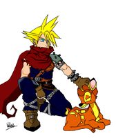 REQUEST ~ Cloud and Bambi by FunkyyMonkey