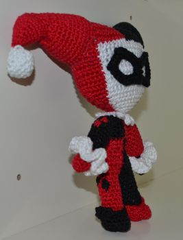 Harley Quinn Amigurumi Side Profile by FourEyedKoi