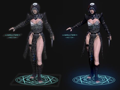Mage wireframe by Reyknow