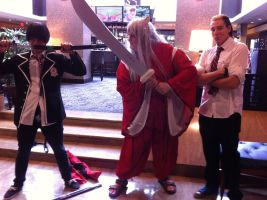 Rin, Inuyasha, and Suguro(Mechacon 2013) by Hound-02