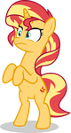 Mlp Fim Sunset Shimmer (hmm...) vector by luckreza8