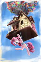 Gingerbread House With Pinkie Pie by baitoubaozou