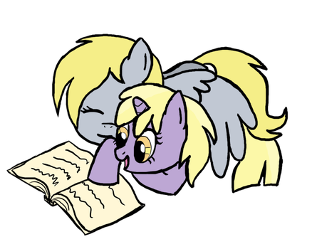 ATG 29: Derpy and Dinky readin by SmockHobbes