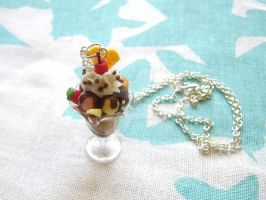 Choc Ice-cream Sundae Necklace by Meow-Box
