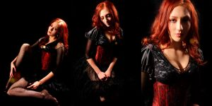 Portraitesque: Red 2 by LightrayPhotography