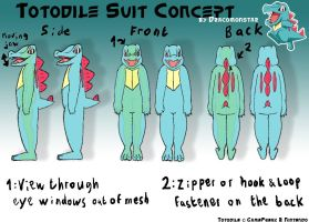 Totodile Suit Concept by Dracomonstar