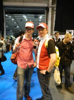 MCM Telford 2014 - Pokemon Red Trainers by MJ-Cosplay