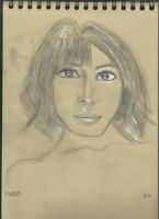 Kraft test - Woman face study n120 by lv888
