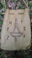 Mjolnir and Rune Wheel Bag by Troll-Blood