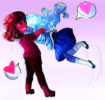 Ruby and Sapphire by LumiPop
